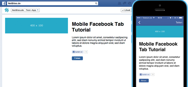 How to create a mobile facebook page tab application - Free Template