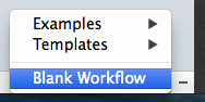 Create a new blank workflow
