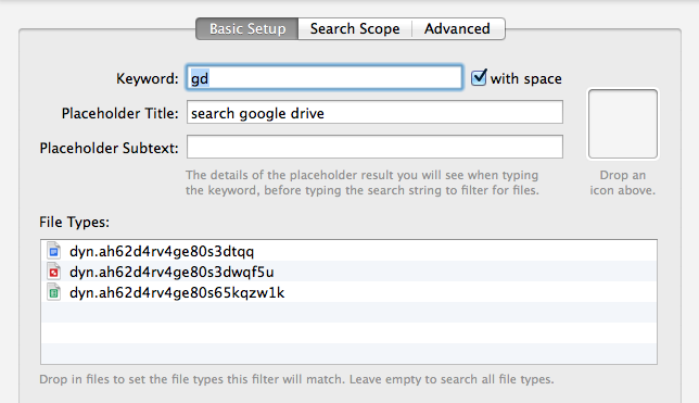 Basic Setup for the Google Drive Search Workflow