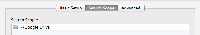 How to configure the Search Scope